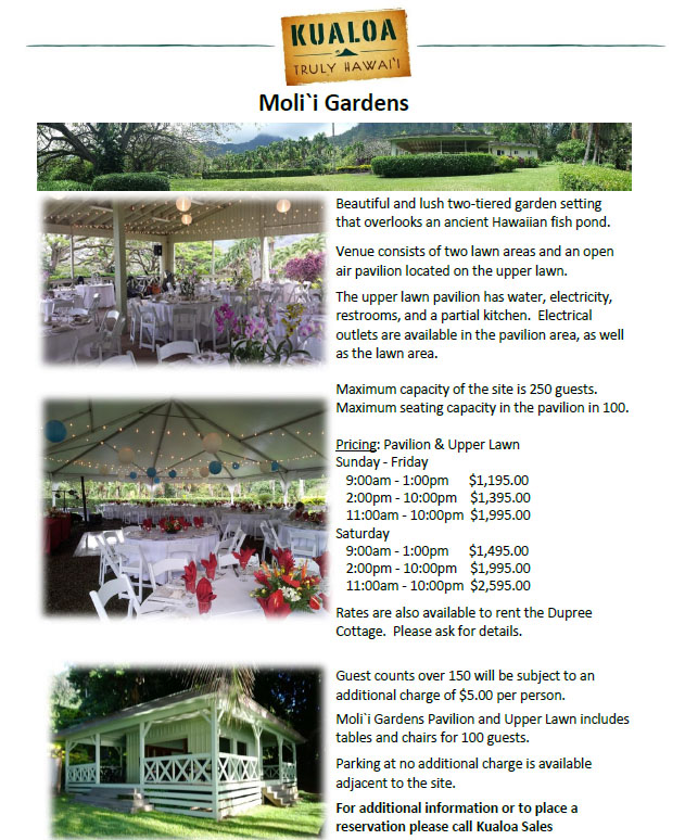 Kualoa Party Venues