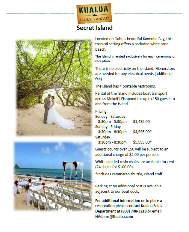 Kaneohe Wedding Venue